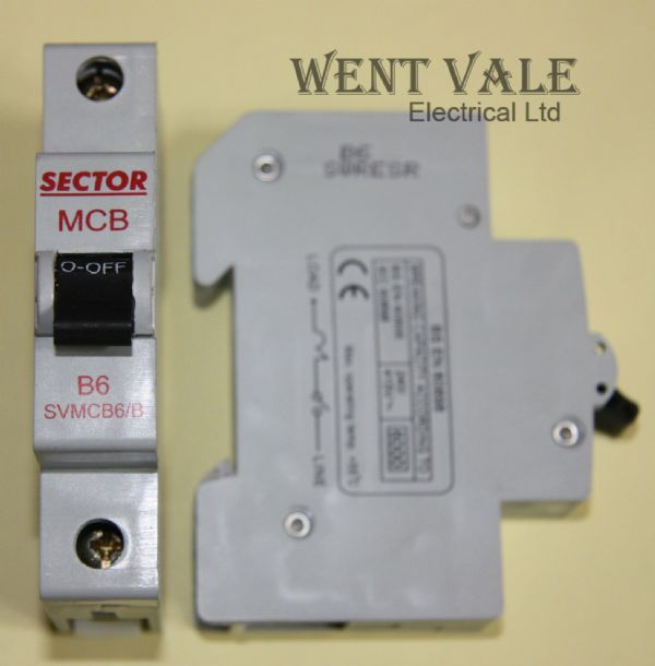 Sector SVMCB06/B - 6a Type B Single Pole MCB Used